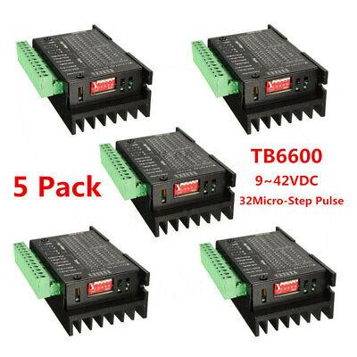 5x Tb6600 Stepper Motor Driver Controller 9-42vdc 4a Micro-step Cnc Drive Module