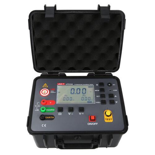 UNI-T UT515A Insulation Resistance Tester Megohmmeter DAR PI Test 1000GΩ 10KV