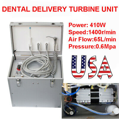 Dental Portable Delivery Unit Syringe Suction System Turbine Unit Compressor