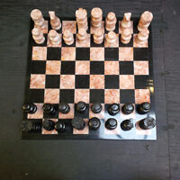 Marble Chess Set (Missing 1 Piece)
