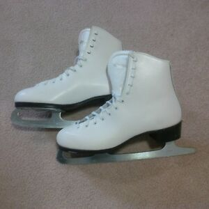 Ladies White Figure Skates by Dominion Canada - $50.00