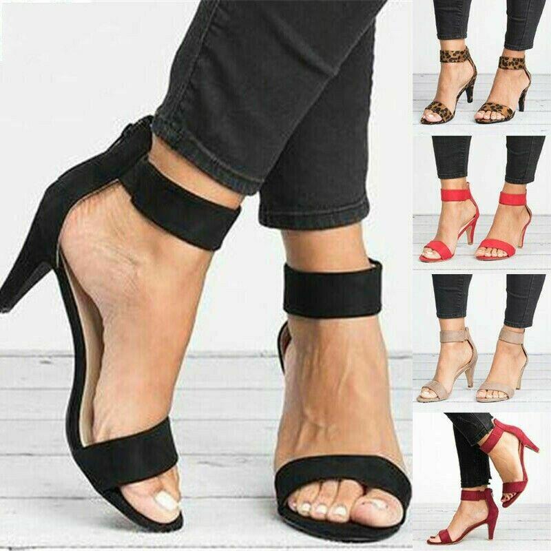 Damen Pumps Absatzschuhe Sandaletten High Heels Sandalen Blockabsatz Abendschuhe