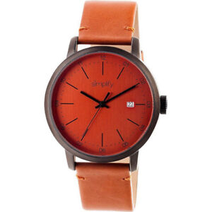 NEW Simplify Unisex 2506 The 2500 Orange Leather Watch