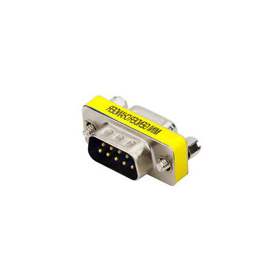RS-232 DB9 9 Pin Male to Male M/M Gender Changer Coupler Serial Adapter Plug ()