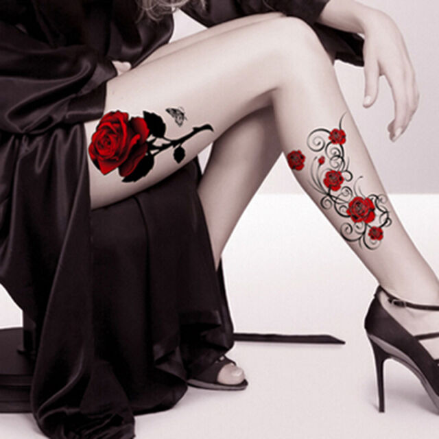 Fashion Tattoo Skull Rose Temporary Body Arm Stickers Removable Waterproof  New