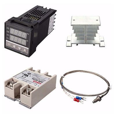 Pid Rex-c100 Temperature Controller Set Ssr 40da K Thermocouple Heat Sink