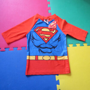 NEW: Boys Superman Swim rash guard (Size: 6) - $13