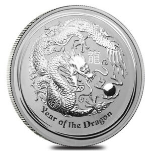 1 kg | kilo 2012 Lunar Year of the Dragon Silver Coin