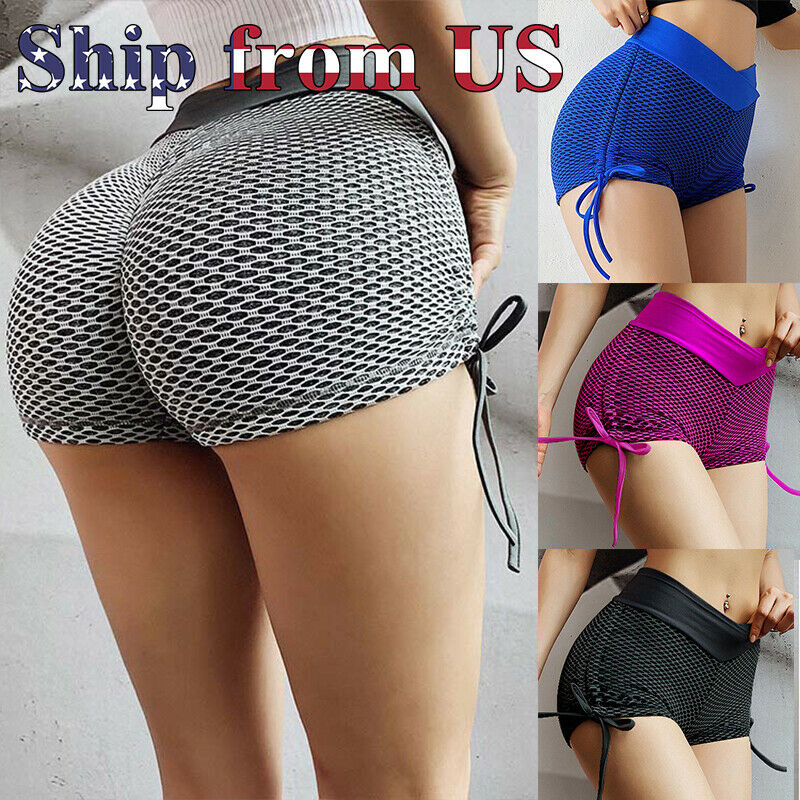 Women's Push Up High Waist Yoga Shorts Sports Pants Casual Gym Workout US Clothing, Shoes & Accessories