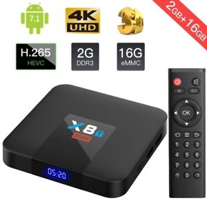 New X8T Max Android Box - Fully Updated KODI + More - 2G/16G