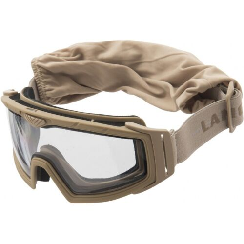 Lancer Tactical Rage Protective TAN Airsoft Goggles CLEAR LENS CA-227T2