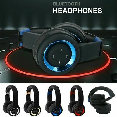 Bluetooth V4.2 Headphone Over Ear Stereo Foldable Headset Earphone for iPhone LG ()