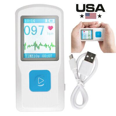 New Handheld Portable Ecg Ekg Machine Heart Beat Monitor Lcd Usb Bluetooth Sale