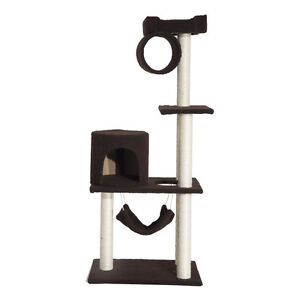 """55"""" Scratching Cat Tree Kitty Furniture House Condo Post Pet Sup"""
