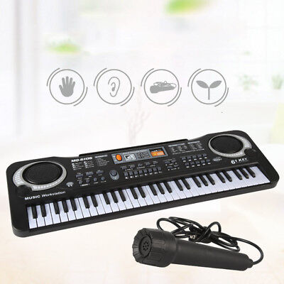 61Key Digital Music Electronic Keyboard Electric Piano Set Organ w/Microphone UR