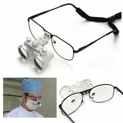 Dentist Surgical Medical Binocular Loupes 3.5x 320mm Optical Glass Loupe Reading