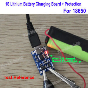 Micro USB 1A 18650 Lithium Battery Mini Charging Board Lipo Charger + Protection