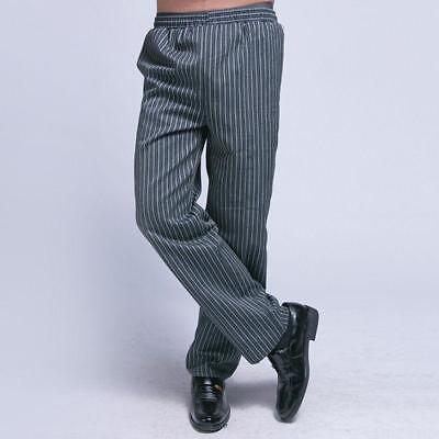 Chef Pants Kitchener Uniform Trousers Unisex Striped Slacks Hotel Casual Pants