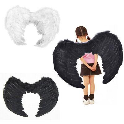 Erwachsene Kinder Feder Flügel Engel Fee Kostüm Halloween - Engel Flügel Kostüm