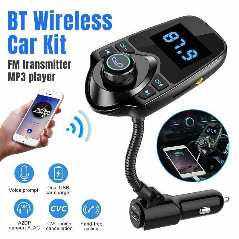 Wireless Car Bluetooth FM Transmitter AUX Radio Adapter Handsfree USB Charger US