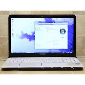 """Sony SVE151D11L Laptop i3 Webcam WiFi 4GB RAM 640GB 15.6"""" HDMI"""