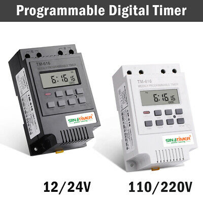 Tm616 Programmable Digital Timer Switch Time Relay Control 12-220v Dc Din Rail