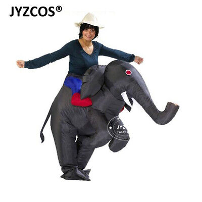 Elephant Dress Up Costume (Elephant Fancy Dress Inflatable Costume Adult Blow Up Suit Party Carnival)