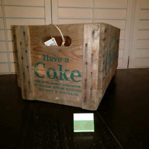 Vintage Wooden Coca-Cola ( Coke ) crate