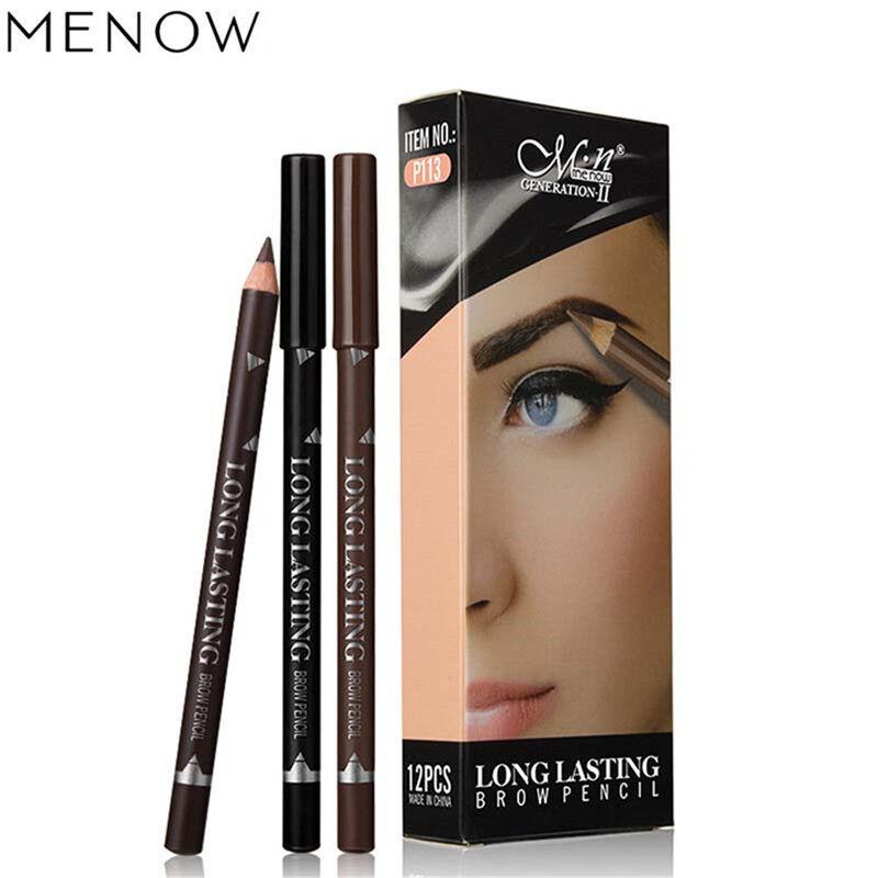 2018 New Eyebrow Eye Brow Pencil Cosmetic With Sharpener Lid Long