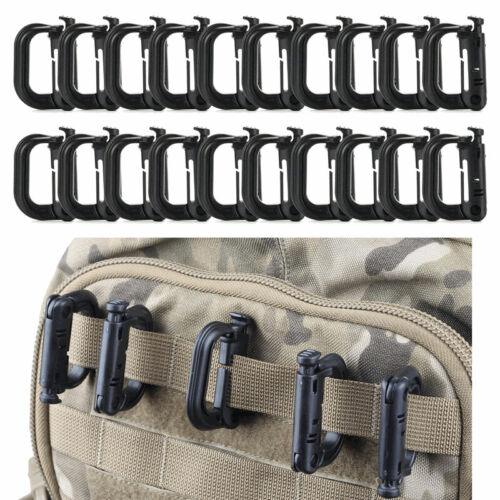 5Pcs Tactical Molle Carabiner Snap D-Ring Clip Key Chain Buc
