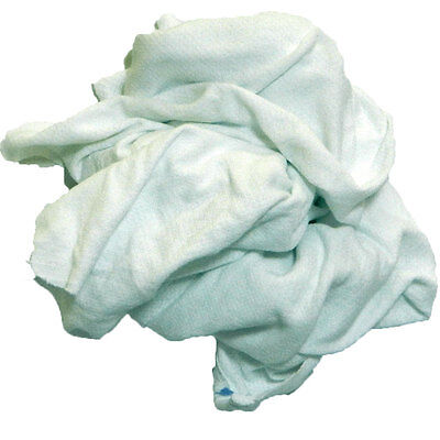 White Knit T-shirt Rags 50lb Box
