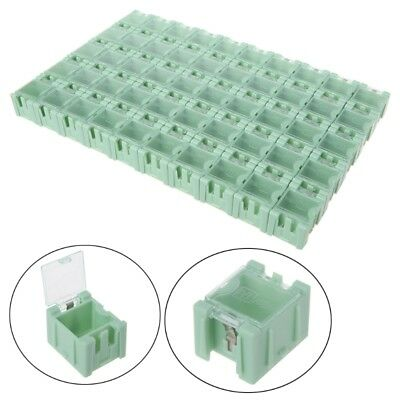 50 Pcsset Smd Smt Electronic Component Container Mini Storage Boxes Kit