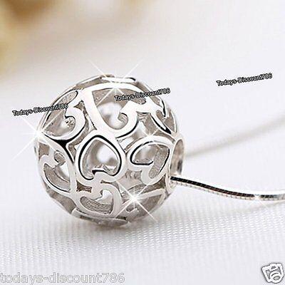 Angebote Silber Liebe Herz Unendlichkeit Kugel Rund Halsketten Geschenk für Sie