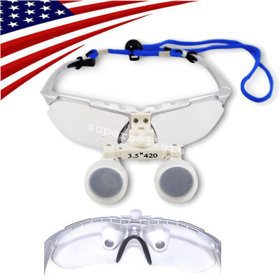 Usa Silver Medical Dental Surgical Loupes 3.5x 420 Binocular Loupe Optical Glass