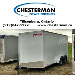 2017 Pace 7x14 Outback Tandem Axle Cargo Trailer - Barn Doors London Ontario image 1