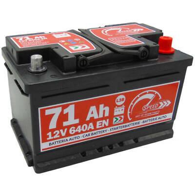 Autobatterie Speed 12V 71Ah 640A Starterbatterie Bosch Varta 70 71 72 74Ah