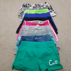 Girls Size 10 and 12 Shorts - 10 Pairs