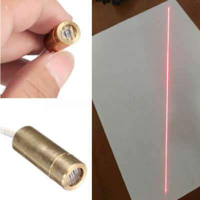 9 X 23mm Dc 3v 650nm 5mw Brass Line Laser Dot Diode Module Head Red Light Pw