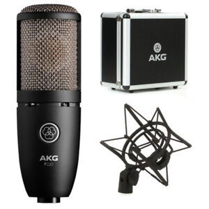 AKG P220 Microphone with Metal Case, Pop Filter, and Shock Mount