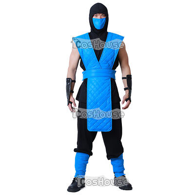 Sub-Zero Cosplay Costume Mortal Kombat Men Clothes Shirt Pants Mask - Pants Costume