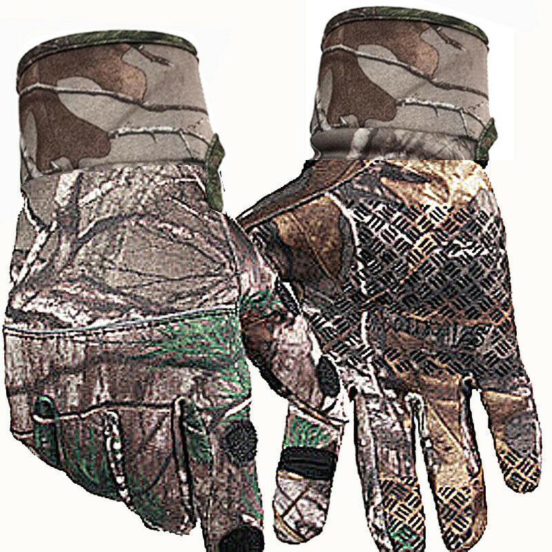 Outdoor Camouflage Hunting Gloves Anti-slip Full Finger Gloves Autumn Winter
