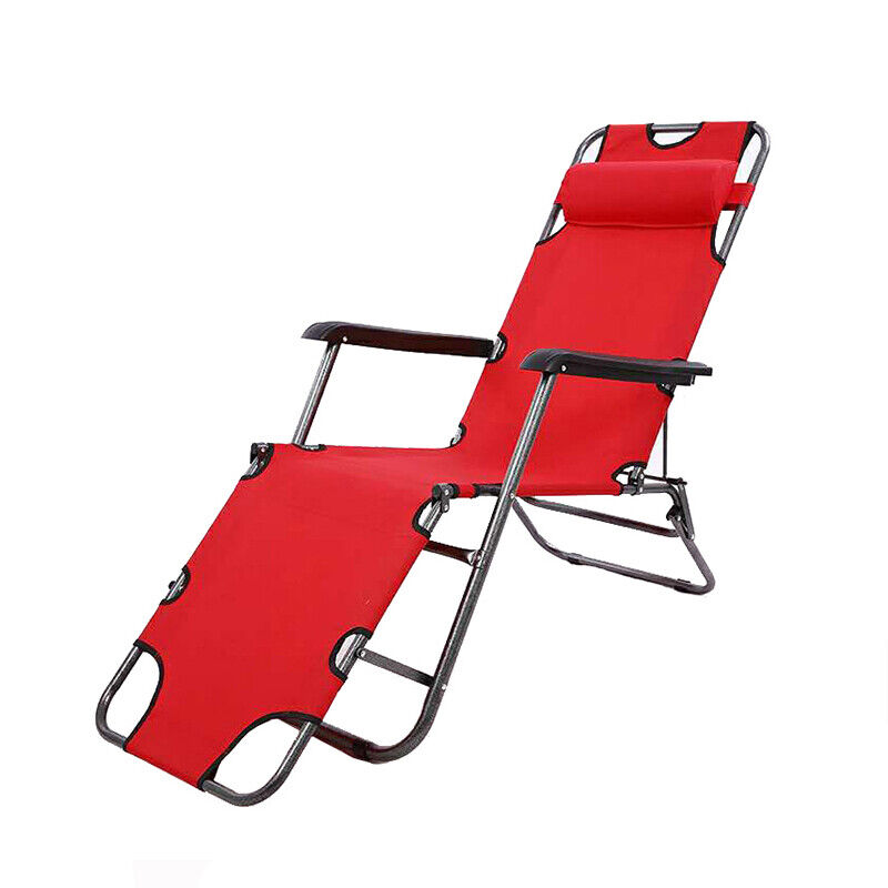 Outdoor Folding Beach Sun Patio Chaise Lounge Chair Pool Lawn USA Reclining NEW