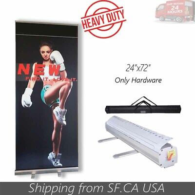 Standard 24 X 72 Retractable Roll Up Pop Up Banner Stand Trade Show Display