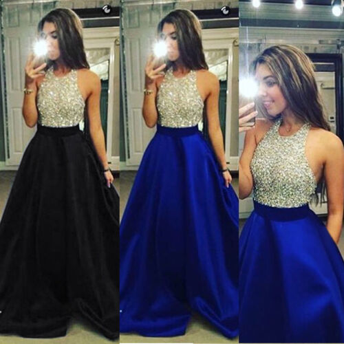 Dress - USA Women Formal Prom Cocktail Party Ball Gown Evening Bridesmaid Long Dresses
