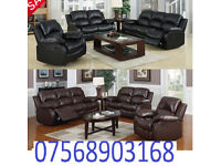 SOFA BOXING DAY lazy boy recliner sofa black real leather BRAND NEW 57