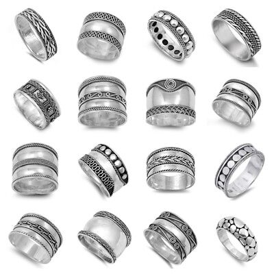 925 STERLING SILVER PRETTY BALI DESIGN RINGS SIZES 5 to 13