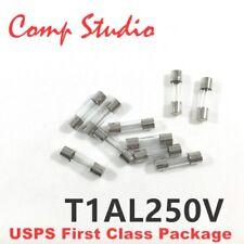 5pcs T1AL250V T1L250V cartridge GLASS fuses 5X20mm T1A 250V 1A 250V NEW