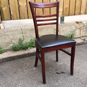 Vintage used restaurant wooden chairs - 26 available.