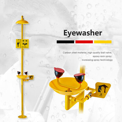 Coating Combination Shower Station And Eye Wash Carbon Steelabs Eyewash Station