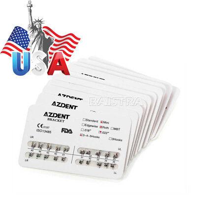 20 Kits Dental Orthodontic Brackets Braces Mini Roth Slot.022 Hooks 3-4-5 Metal